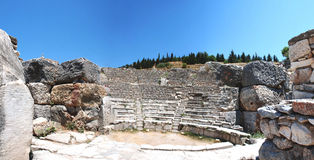 Coloseum in Ephesus Efes Turchia, Asia - panorama Immagini Stock
