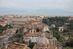 Coloseum et forum Romanum photo stock