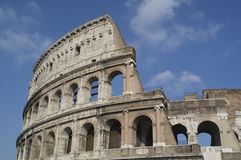 Coloseum Front View. A frontal view of the Colosseum in Rome during the day Royalty Free Stock Images