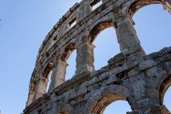 Coloseum nei PULA, Croazia Immagine Stock Libera da Diritti