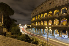 Coloseum at night Royalty Free Stock Photo