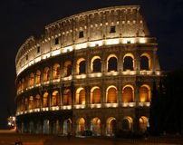 Coloseum at Night Royalty Free Stock Images