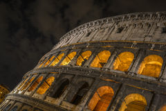 Coloseum by night. With orange light Stock Photo