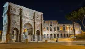Coloseum night rome στοκ εικόνα