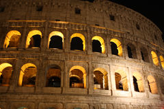 Coloseum at night in Rome Italy Royalty Free Stock Images