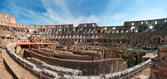 Coloseum panorama. Wide panorama of the Colosseum (Coliseum) in Rome Royalty Free Stock Photography