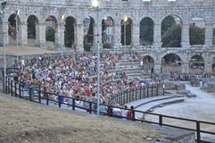 Coloseum in Pula Stock Photography