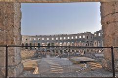 Coloseum in Pula Royalty Free Stock Images