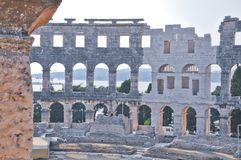Coloseum in Pula Stock Image