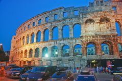 Coloseum in Pula Royalty Free Stock Photography