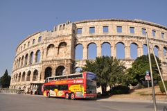 Coloseum in Pula Stock Photo