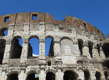 The Coloseum in Rome. The Coloseum or Coliseum, Flavian Amphitheatre an elliptic alamphitheatre in the centre of the city of Rome, Italy. Built of  Royalty Free Stock Photos