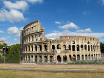 The Coloseum in Rome. The Coloseum or Coliseum, Flavian Amphitheatre an elliptic alamphitheatre in the centre of the city of Rome, Italy. Built of  Royalty Free Stock Photo