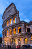 The Coloseum of Rome, Italy. The Coloseum of Rome seen at night from Piazza del Colosseo Royalty Free Stock Photos
