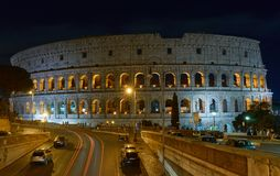 Colosseum. Rome by night. Nicest touristic place in the world. Rome by night. Long exposure Royalty Free Stock Photos