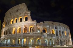 Colosseum. Rome by night. Nicest touristic place in the world. Rome by night. Long exposure Stock Photos