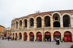 Coloseum in Verona, Italy. Coloseum on Piazza Bra,is the largest piazza in Verona, Italy Royalty Free Stock Image
