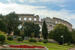 Coloseum w Pula Obrazy Stock