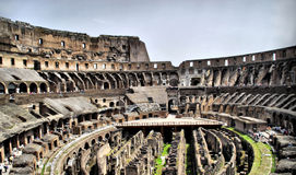 Colosium romano interno imagens de stock
