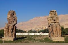 Coloso de Memnon Fotos de archivo