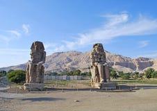 Colosos de Memnon Imagen de archivo libre de regalías