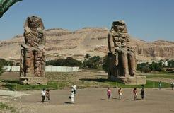 Colosos de Memnon Imagen de archivo