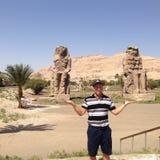 Colosos de Memnon Imagenes de archivo