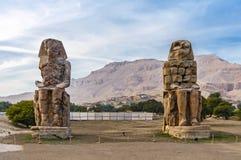 Colosos de Memnon en Luxor en Egipto Fotos de archivo libres de regalías
