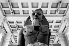 Colossal bust of Ramesses II at the British Museum. London, Engl Royalty Free Stock Images