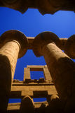 Colossal columns with hieroglyphics Royalty Free Stock Images