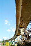 A colossal concrete motorway flyover access and egress. Royalty Free Stock Image