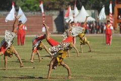 Colossal Dance at Art festival Stock Image