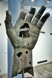 Colossal bronze statue of Constantine: left hand Stock Photography