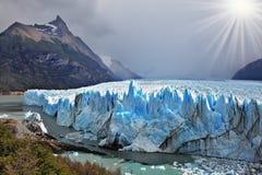 Colossal Perito Moreno glacier Stock Images