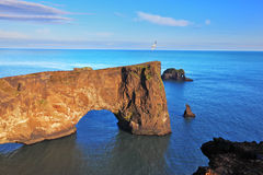 The colossal rock in the sea Royalty Free Stock Photos