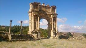 Colossal romanian gate Stock Image