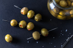 Colossal Spanish Queen Olives for Garnish Stock Photography