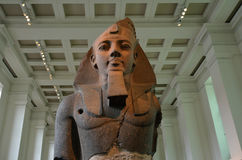 Colossal statue of Amenhotep III in the British Museum in London Stock Photography