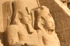 Colossal statues of Ramses II, Abu Simbel, Egypt Stock Photo