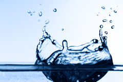 Colossally blue watersplash Royalty Free Stock Images