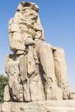 Colosse de Memnon, statue de pharaon Amenhotep III, Louxor Photo stock
