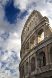 Colosseo. A partial view of the colosseo, in Rome, againsta  cloudy sky Royalty Free Stock Photo