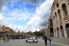 Colosseo. In October 2012,some tourists visited to the Colosseo in the ROMA of Italy Royalty Free Stock Images