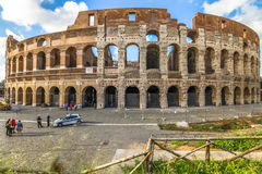 Colosseo aerial view Royalty Free Stock Images