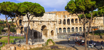 Colosseo and arco di Costantino,  Rome Stock Photography