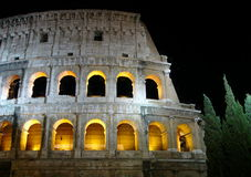 Colosseo bij nacht, Rome Royalty-vrije Stock Foto