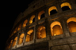 Colosseo, Coliseum in Rome. The Colosseo or Coliseum in Rome during winter illuminated Royalty Free Stock Images