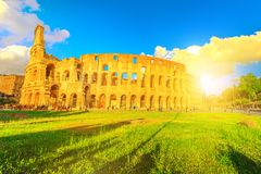 Colosseo sunset Roma Royalty Free Stock Photography
