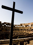 Colosseo Cross Royalty Free Stock Photography