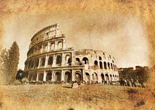 Colosseo in der Weinlese Stockfotos
